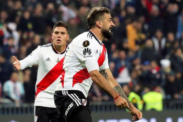 River Platen Lucas Pratto juhlii toisen jakson tasoitustaan.