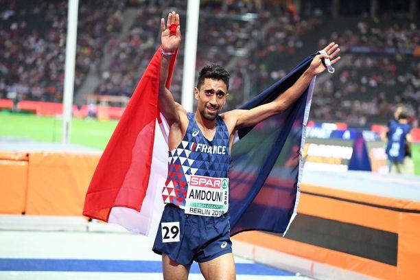 Morhad Amdouni juoksi Berliinin EM-kisoissa 10 000 metrin mestariksi.