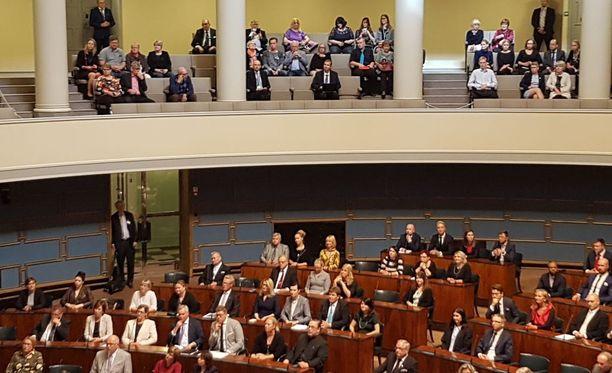 Kansanedustajat täysistunnossa syksyllä 2017.