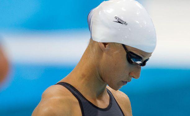 Hanna-Maria Seppälä ui illan välierissä.