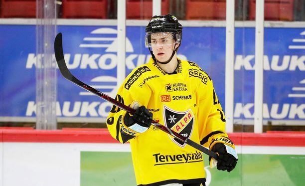 Joni Ikonen iski ensimmäisen liigamaalinsa.