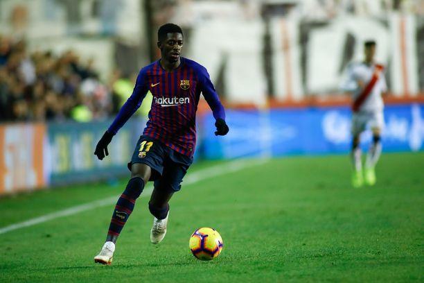 Ousmane Dembélé ei pelaa huomenna.