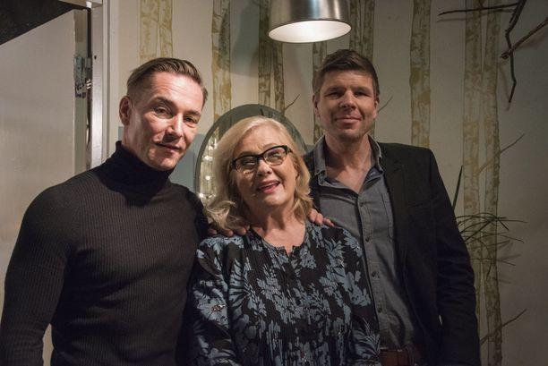 Sami Uotila, Maija-Liisa Peuhu ja Tommi Taurula ovat nähneet sarjan kehityskulun alkuvuosista tähän päivään.