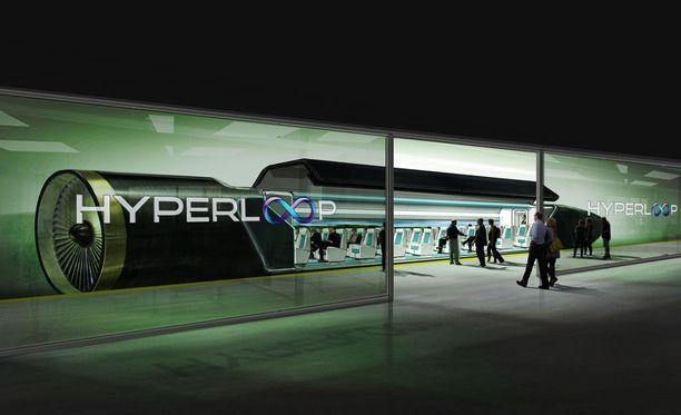 Jos visiot toteutuvat, Hyperloop-kapselilla pääsee tulevaisuudessa Helsingistä Tallinnaan silmänräpäyksessä