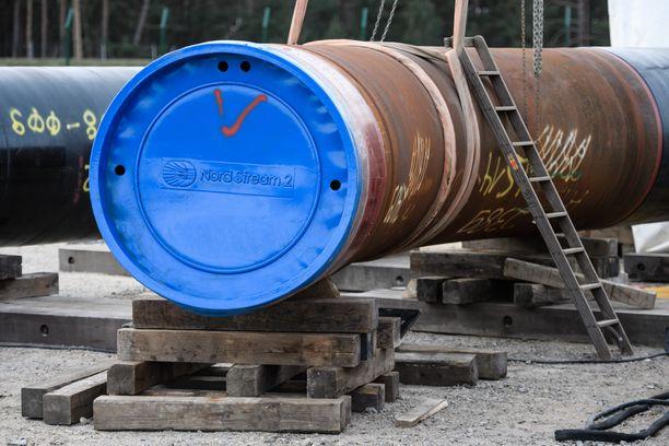 Nord Stream 2 -putken osia Lubminissa Saksassa.