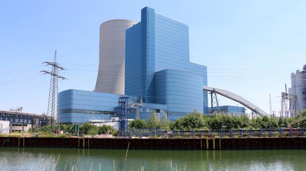 Uniperin Datteln 4 -kivihiilivoimala. Voimala on teholtaan 1 100 megawattia.