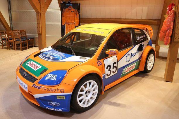 Tällä Ford Fiestalla Bosse voitti ensimmäisen ajamansa rallicrossin EM-osakilpailun.