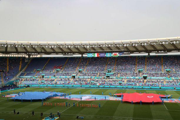 Rooman Stadio Olimpicolla pelataan lauantaina Englannin ja Ukrainan välinen EM-puolivälieräottelu.