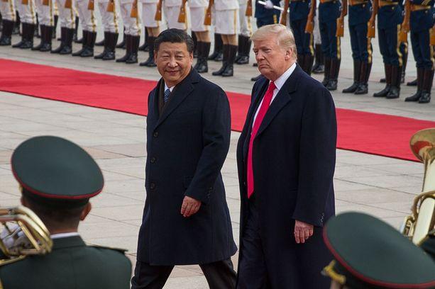 Trump kävi Kiinassa Xi Jinpingin vieraana kolme viikkoa sitten.