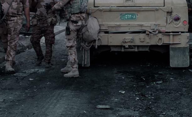 Sotilaita Mosulissa kesäkuun alussa.