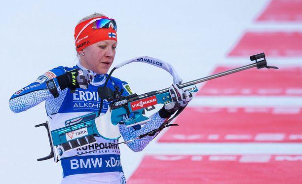 Kaisa Mäkäräinen jäi tällä kertaa sijalle 21.