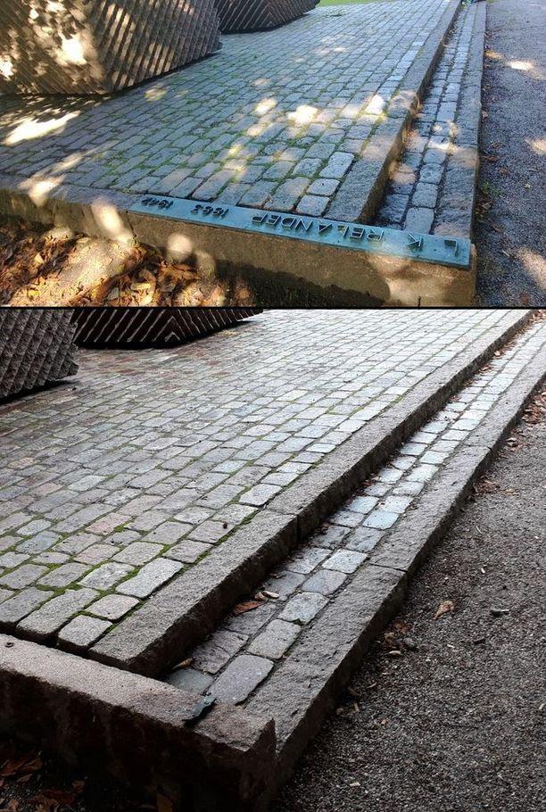 Relander-muistomerkki sijaitsee Helsingin Töölössä Hesperian puistossa.
