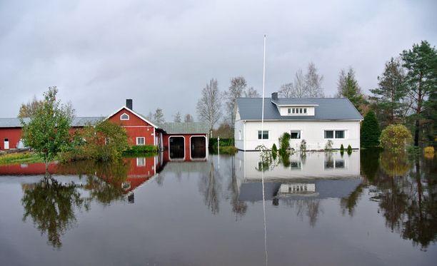 Pahat tulvat piinasivat Pohjanmaata syksyllä 2012.