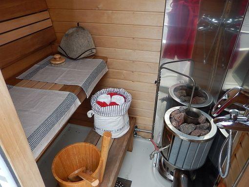 Aluksen sauna.