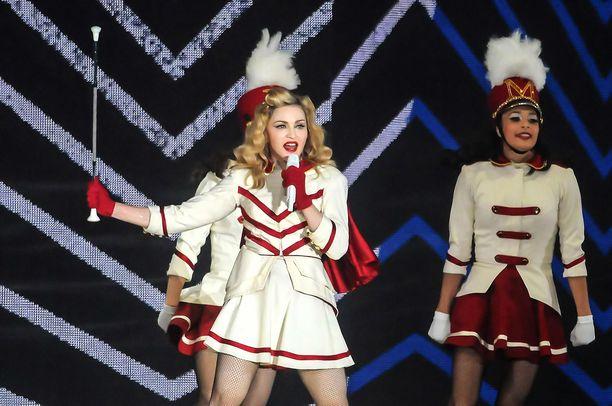 Madonna keikalla vuonna 2018.