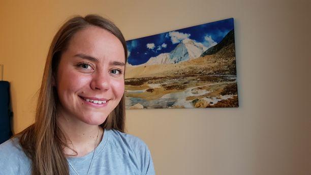 Vuorikiipeilystä on muodostunut Anni Penttilälle jo sivutoiminen ammatti.