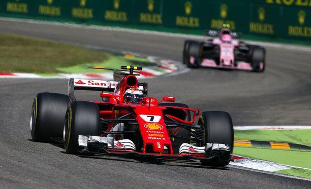 Kimi Räikkönen pettyi viidenteen sijaan.