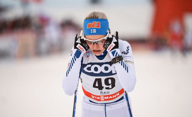 Anne Kyllönen taistelee viikonloppuna olympiapaikasta Planican maailmancupissa.