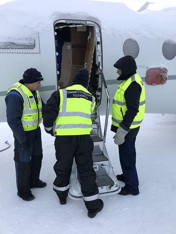 Onnettomuus tapahtui Kittilän lentoaseman asematasolla viime tammikuussa.