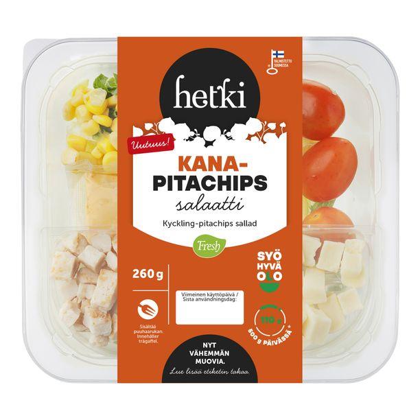 Nyt hyllylle hyppää Suomen suosituimman salaatin, eli Hetki Kana-taco -salaatin pikkuveli! Kasvaakohan tämä suosiossaan isommaksi kuin veljensä? Kokeile heti.