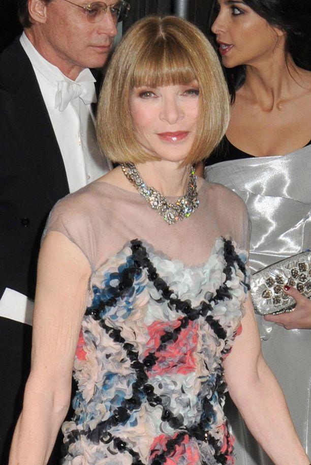 Voguen päätoimittajan Anna Wintourin tukkatyyli pysyy samana vuodesta toiseen.
