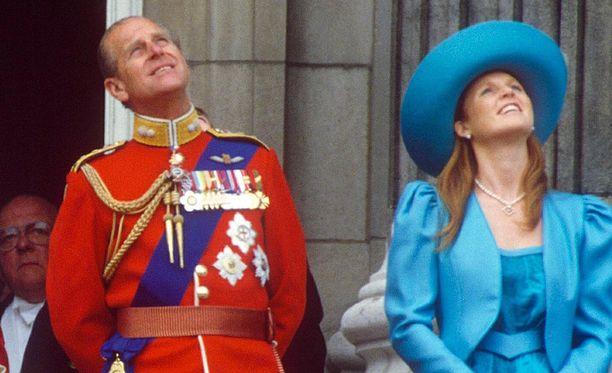 Harvinainen kuva prinssi Philipistä ja Sarah Fergusonista.