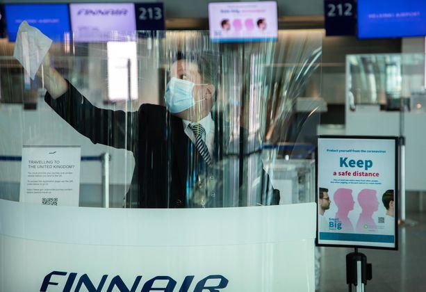 Virusmuunnosta on tullut Suomeen muun muassa Britanniasta. Kuvituskuva.