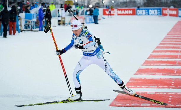 Kaisa Mäkäräinen hiihti sisukkaasti lauantaina pienistä terveysmurheista huolimatta.