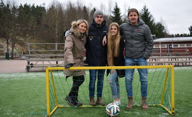 Rantasen perheessä uskotaan Manchester Unitediin ja pelinumeroon seitsemän.