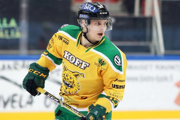 Arttu Ruotsalainen pelaa vahvaa kautta Ilveksessä.