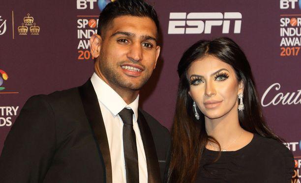 Amir Khan ja Faryal Makhdoom olivat vielä huhtikuussa yhdessä BT Sport Industry Awards -tapahtumassa.