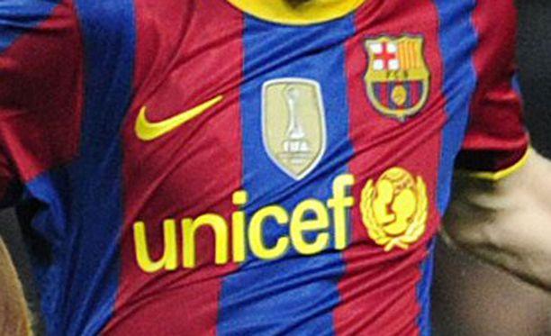 Unicefin mainos Barcelonan paidassa toimii hyväntekeväisyysprojektina.