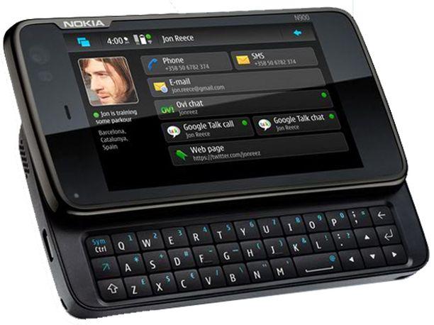 Nokia N900 sijoittui neljänneksi.