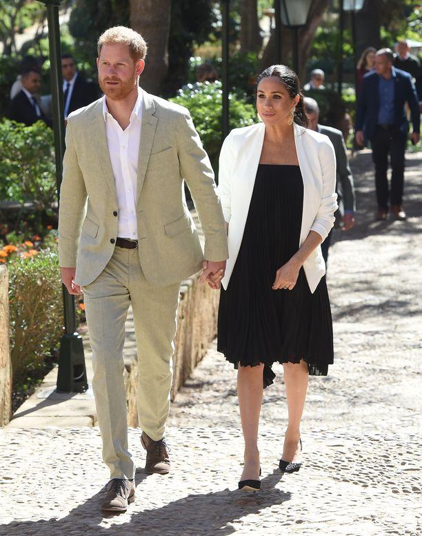 Prinssi Harry ja herttuatar Meghan vierailivat työmatkalla Marokossa helmikuussa.