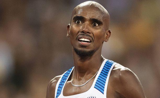 Juoksijasuuruus Mo Farah piti tunteikkaan puheenvuoron Lontoon MM-kisojen jälkeen.