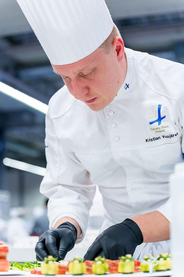 Kristian Vuojärvi on kokenut kilpailija.