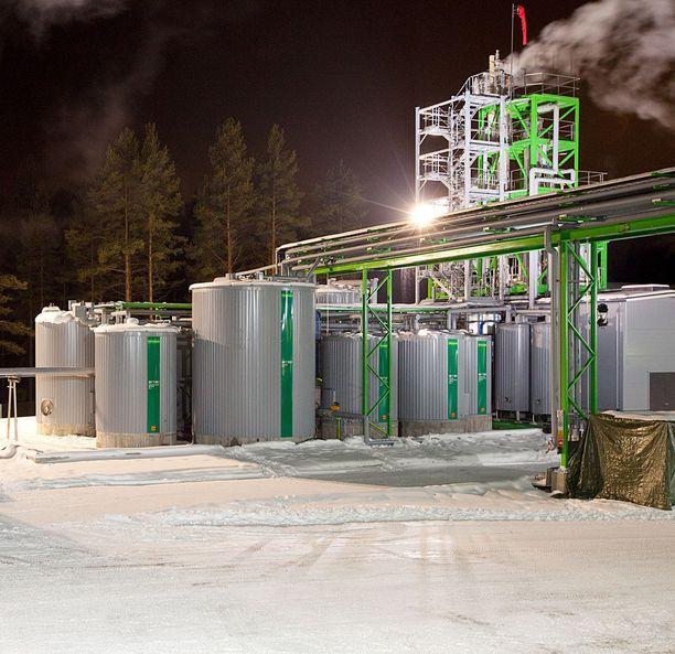 Oululaisen Chempoliksen biojalostamista testaava laitos Suomessa.