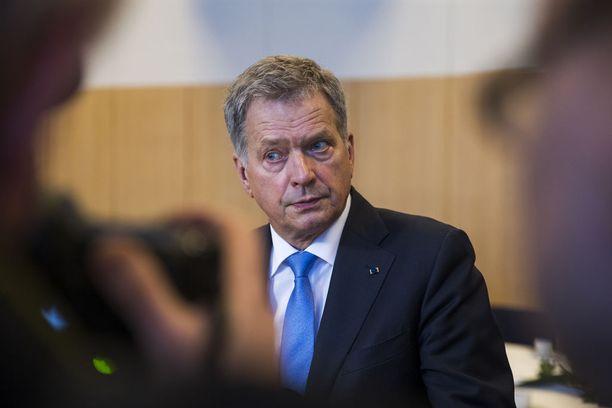 Presidentti Sauli Niinistö on Kekkosen jälkeen arvostetuin presidentti.