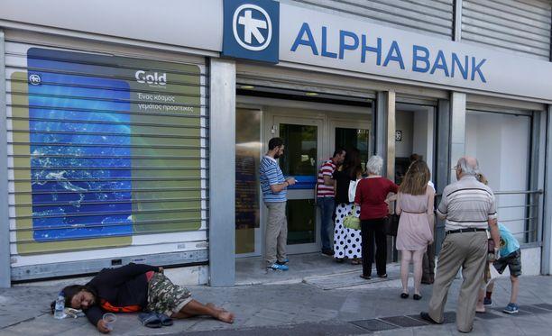 Kreikan bruttokansantuote on laskenut viidessä vuodessa 25 prosenttia.