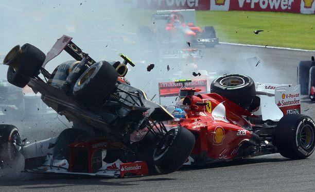 Romain Grosjean teki formuloista romurallia viime viikonloppuna.