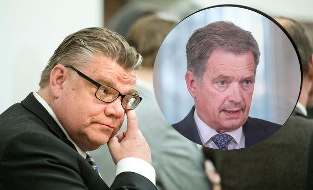 Presidentti Niinistö otti kantaa ulkoministeri Timo Soinin esiintymiseen Kanadassa.