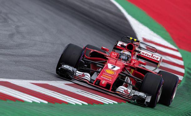 Kimi Räikkönen oli kolmansien harjoitusten neljänneksi nopein.