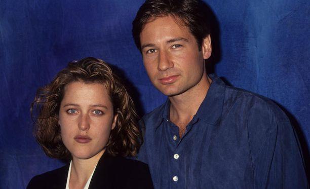Scully ja Mulder eli Gillian Anderson ja David Duchovny vuonna 1993.