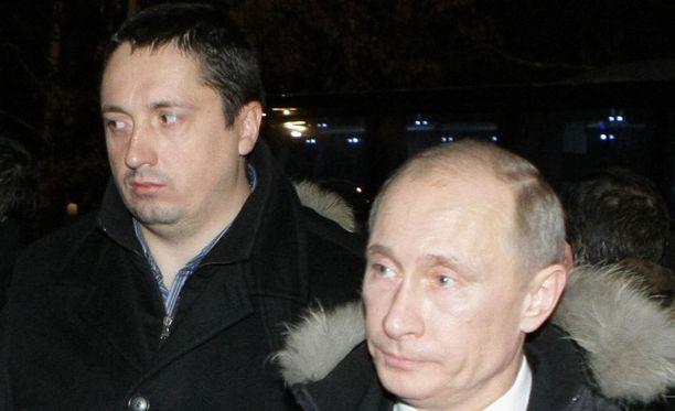 Alexander Shprygin vuonna 2010 Vladimir Putinin kanssa.