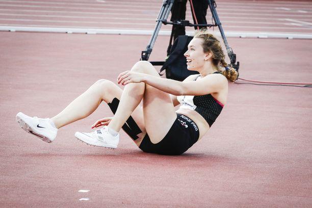 Ella Junnilalla oli epäuskoinen olo SE-suorituksensa jälkeen.