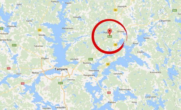 Onnettomuus sattui valtatie 9:llä noin kolme kilometriä Orivedeltä Tampereen suuntaan.