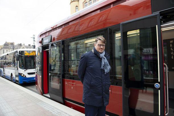 Tampereen Raitiotie Oy:n toimitusjohtaja Pekka Sirviö.