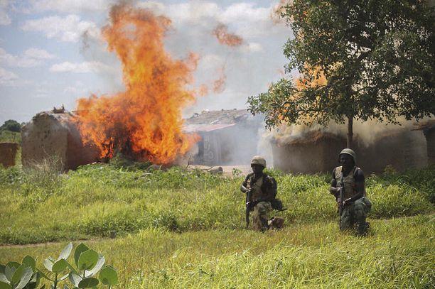 Nigerialainen sotilaspartio joutui iskun kohteeksi. Arkistokuva.