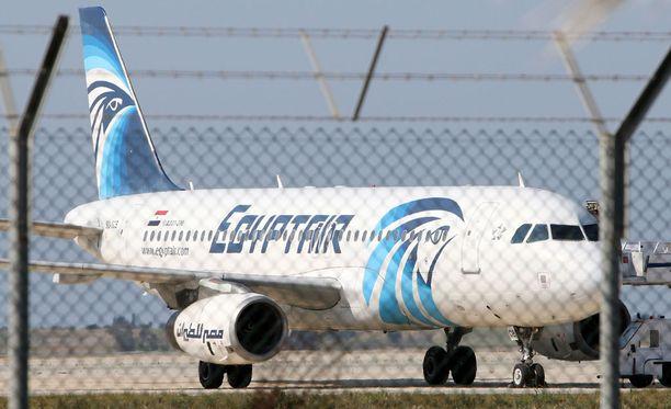 EgyptAirin kone lähti Pariisista ja katosi tutkasta matkalla Kairoon. Arkistokuva.