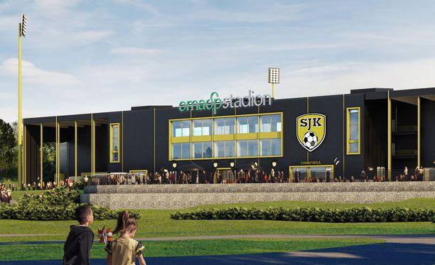 Tältä näyttää Seinäjoen jalkapallostadion.